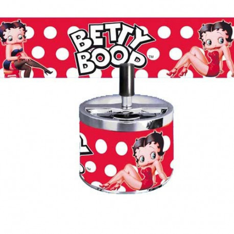 Cendrier métal Betty Boop rouge sexy
