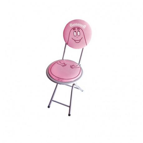 Chaise pliante vinyl Barbapapa