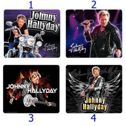 Mouse pad vierkante Johnny Hallyday