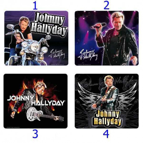 Mouse pad Rectangle Johnny Hallyday