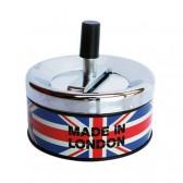 LONDON Metall Aschenbecher