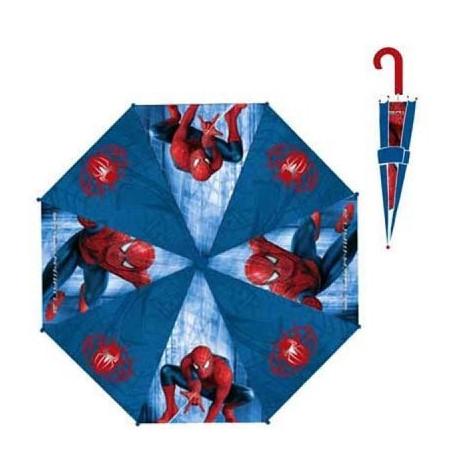Blauwe Spiderman paraplu