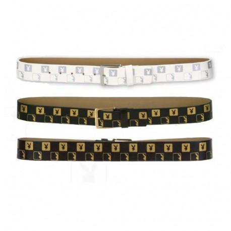 Cinturón de mujer Playboy Monograma - Color: Negro - Tamaño: L