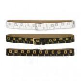Cinturón de mujer Playboy Monograma - Color: Blanco - Tamaño: L