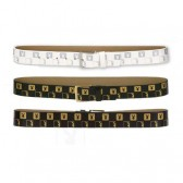 Cintura donna Playboy Monogram - colore: nero - taglia: M