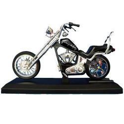Réveil moto Johnny Hallyday noir