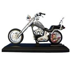 Wakker motorfiets Johnny Hallyday grijs