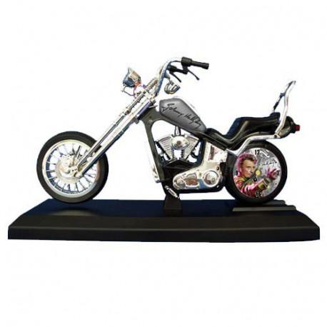 Sveglia del motociclo Johnny Hallyday grigio