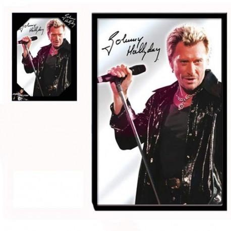 Cantante Johnny Hallyday de espejo