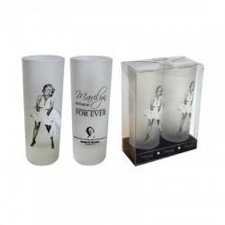 Mini glass Marilyn Monroe For ever (set of 2)