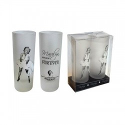 Mini verre Marilyn Monroe For ever (set de 2)