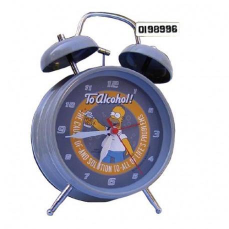 Alcohol de Homer Simpsons reloj despertador