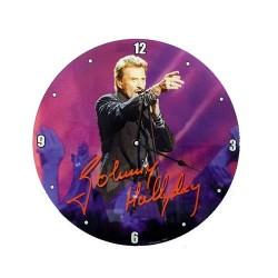 Pendule Johnny Hallyday Micro Verre