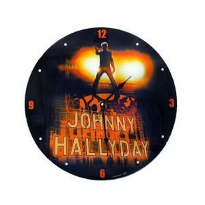 Pendule johnny hallyday rock star la boutique des toons for Miroir johnny hallyday