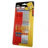 10 crayons de bois Simpson