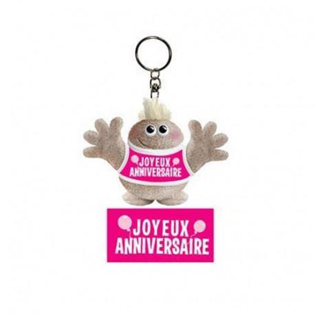 Porte clés Hugmeez Joyeux Anniversaire