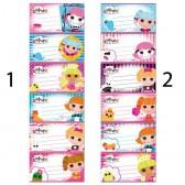 6 étiquettes Lalaloopsy