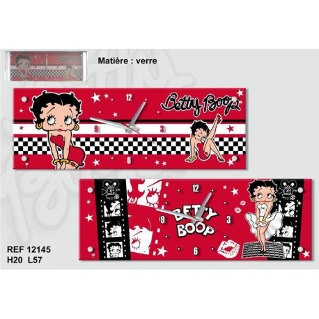 Pendule rectangle Betty Boop Cinéma 57 CM
