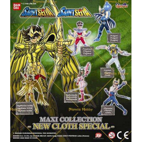 Collection de 6 figurines Saint Seiya Sagittaire - Les chevaliers du zodiaque