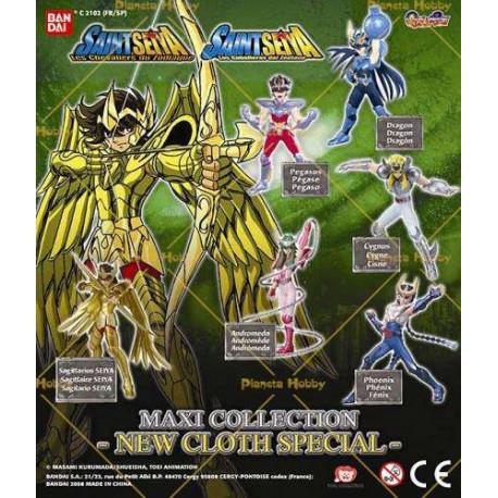 Collection de 6 figurines Saint Seiya Sagittaire - Les chevaliers du zodiaque