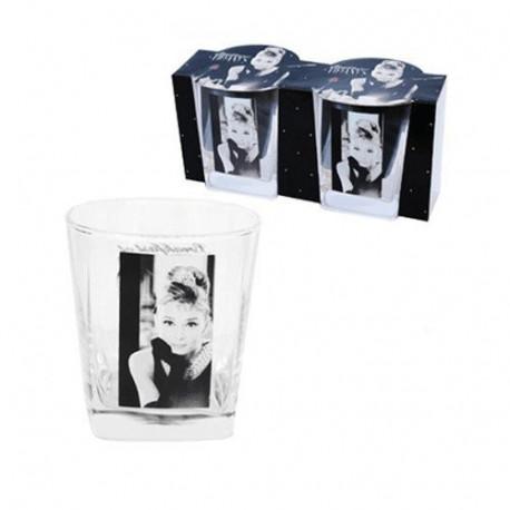Set de 2 verres à Whisky Audrey Hepburn
