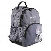 Teo Jasmin grey 45 CM - 2 cpt backpack
