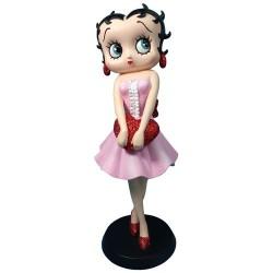 Statuetta Betty Boop che tiene cuore rosso