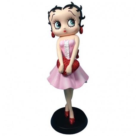 Statuette Betty Boop Mensonge Rose