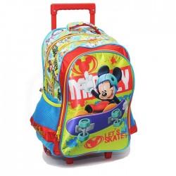 Mochila con ruedas Mickey Mouse 43 CM - Trolley escolar