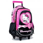 Cartable à roulettes Charmmy Kitty Coeur 43 CM Trolley