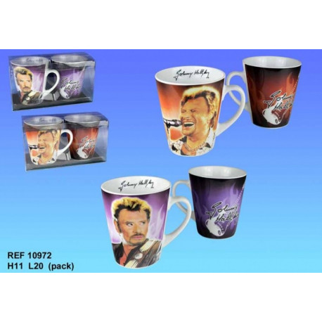 Coffret de 2 mugs Johnny Hallyday