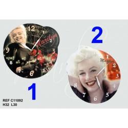 Reloj de repisa de madera Marilyn Monroe