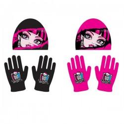 Ensemble Bonnet + gants Monster High