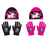 Ensemble Bonnet + gants Monster High