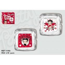 Square ashtray Betty Boop