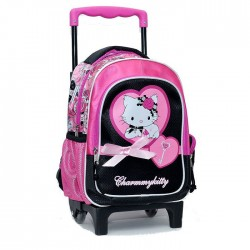 Sac à roulettes trolley maternelle Charmmy Kitty 30 CM Coeur - Cartable