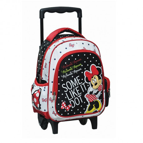 Sac a roulettes Minnie Traveler rose maternelle 30 CM