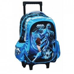 Max Steel Power 43 CM high wheeled travelbag
