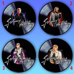 Tapis de souris rond Johnny Hallyday disque