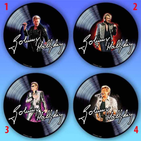 Tapis de souris rond johnny hallyday disque la boutique for Miroir johnny hallyday