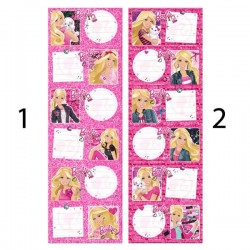 Lot of 6 labels Barbie
