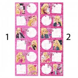 Lote de 6 etiquetas Barbie