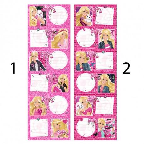 Lot de 6 étiquettes Barbie