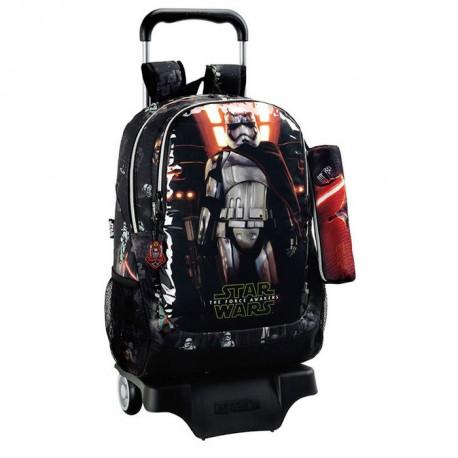 Sac à roulettes Star Wars Dark Vador 44 CM Haut de Gamme Trolley - Cartable