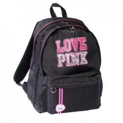 Sac à dos Love Pink Noir 45 CM - 2 cpt