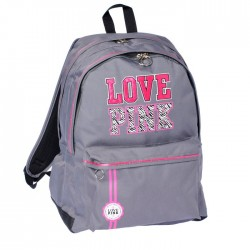 Backpack Love Pink grey 45 CM - 2 cpt