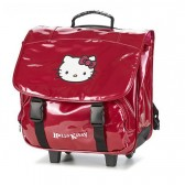 Cartable à roulettes Hello Kitty Fushia Trolley 38 CM Haut de gamme