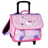 Cartable à roulettes Hello Kitty Rose Trolley 38 CM Haut de gamme