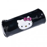 Trousse ronde Hello Kitty Noir Brillant 22 CM