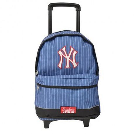 Sac à roulettes 45 CM New York Yankees Bleu Haut de gamme - Cartable